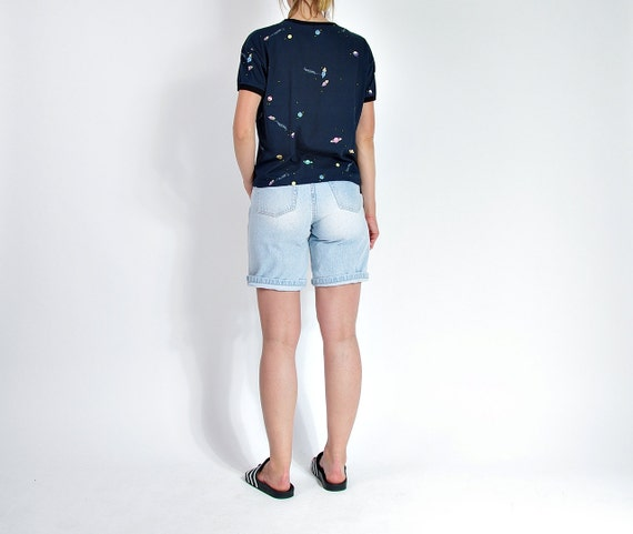 SALE! 80s Vanilla high waisted mom denim shorts made in Belgium