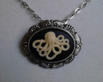 Antique Cthulhu inspired necklace/brooch