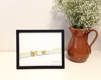 Art Print // Old Youngs Bay Bridge // Limited Edition Watercolor // Astoria Oregon // Bridge