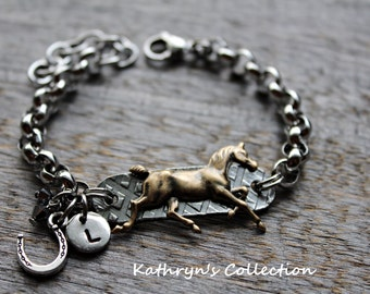Horse Bracelet, Horse Jewelry, Equestrian Bracelet, Riding Jewelry, Cow Girl, Horse Lover Gift