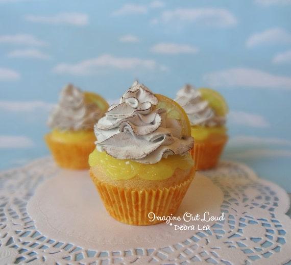 Fake Cupcake Handmade Fake Lemon Meringue Toasted Cupcake Lemon Slice