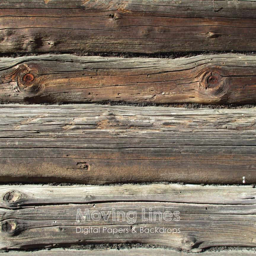 Wood Backdrop Rustic Log Wall Wedding Or Baby Photography