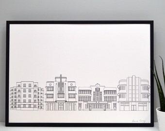 Deco Building Print