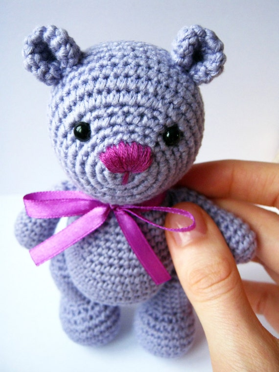 Amigurumi Little Teddy Bear : Little Teddy Bear Crochet Teddy Bear Amigurumi Bear by ...