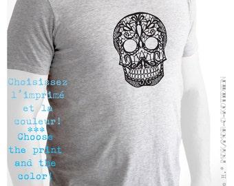 T-Shirt, Semi-Fitted, Print Peace. Love. Bacon. OU Sugar Skull OU I Love Poutine