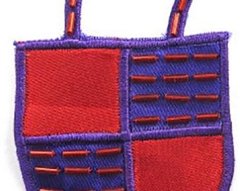 "Sale! Embroidered Purse Applique, 3"" x 2"" -3916-0163"