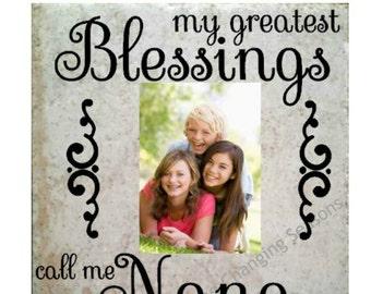 grandmother frame grandparent tile frame grandchildren picture frame grandma tile frame grandpa frame mothers day gift