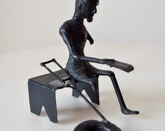 Vintage Cast Iron Panhandler Figurine