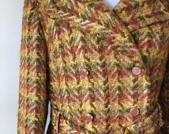 70s Woven Tapestry Jacket (M/L) A-line Coat  Carson, Pirie, Scott Co