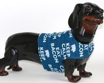 Dog Jacket, Pet Clothing, Dog Coat, Dog Clothes, Dog Clothing, Quilted Dog Coat, Custom Dog Coat, Warm Dog Coat, Keep Calm Eat Bacon Flannel
