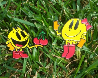 Mr. and Mrs. Pacman Pins