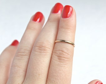 Gold Filled Midi Ring.  Simple gold ring.  Midi ring.  Simple midi ring.  Everyday wear ring. Knuckle Ring.  Gold Midi Ring.