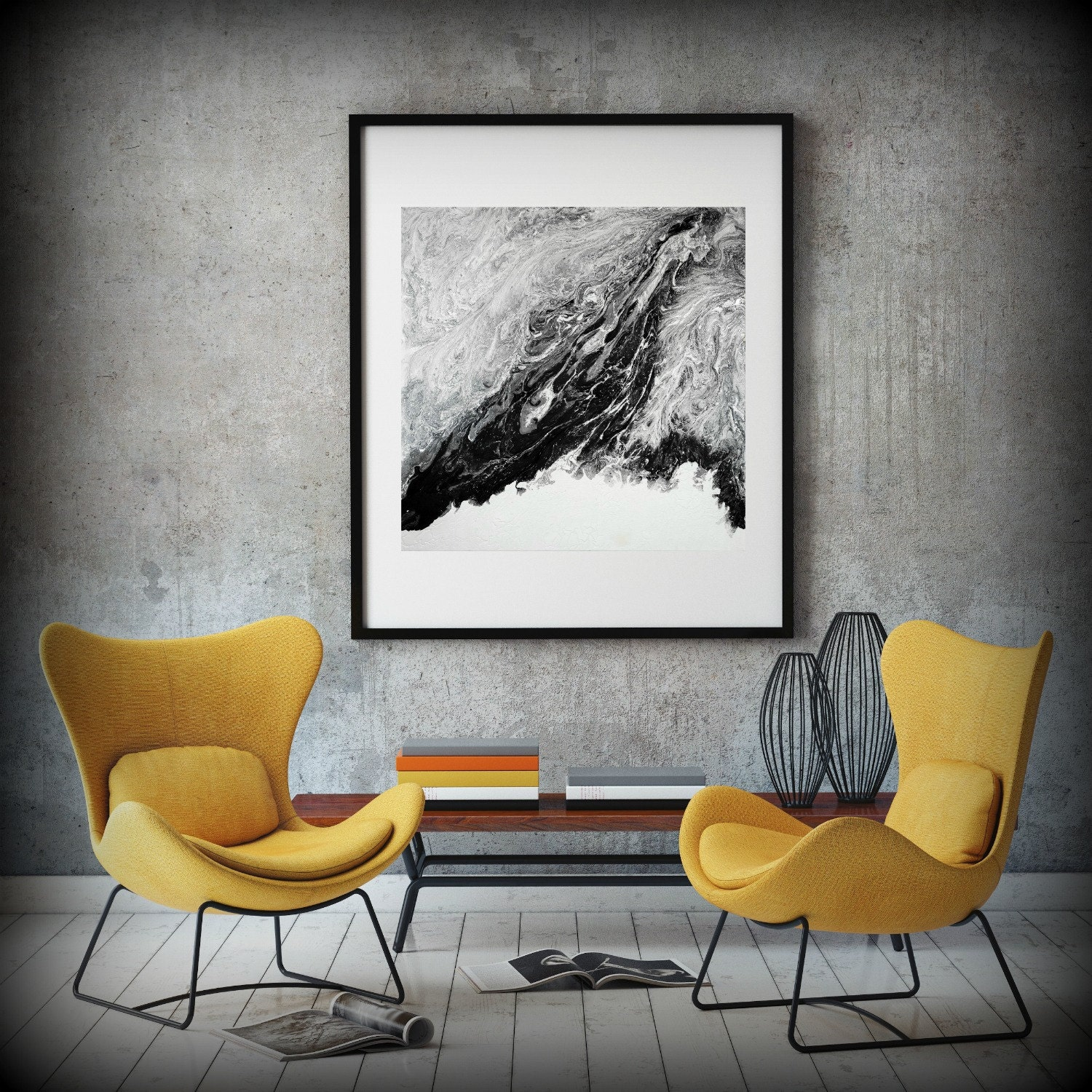 extra large abstract painting print abstract canvas print black and white art large abstract wall art large abstract art fine art print