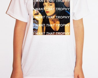 Charli XCX Trophy Pulp Fiction Uma Thurman T-Shirt