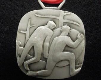 Swiss medal 1968 - Battle of Morgarten 1315 - 49th birthday gift - 49 years anniversary present