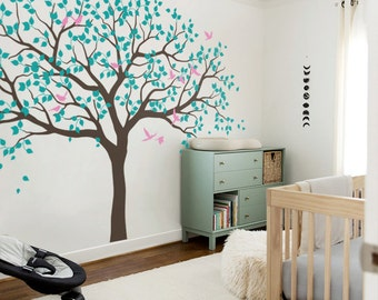 Large Tree Wall Decals Trees Decal Nursery Tree Wall Decals, Tree mural, Vinyl Wall Decal, decor, diy - MM001