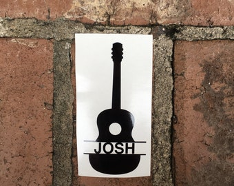 Personalized Guitar Yeti Decal | Mac Book Decal | Car Decal | Laptop Decal