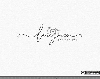 Premade Photography Logo, Camera Logo, Signature Logo, Handwriting logo, Elegant Logo, Photographer Logo, Business Logo, Watermark