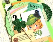 Vintage St. Patricks Day Ephemera Pack. 34 Pieces. Art Journal Kit. Scrapbook Ephemera. Journal Supply. Planner Accessories. Shamrock.