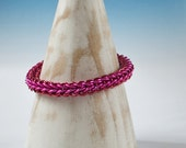 Full Persian pink and Red bracelet, Chainmaille