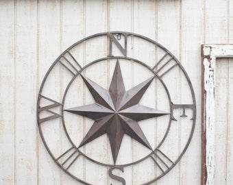 Nautical Wall Art, Metal Compass Wall Art, Nautical Wall Art, Nautical Decor, Metal Decor, Metal Wall Decor, Black Wall Art, Black Compass