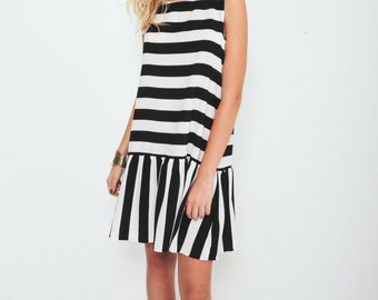 Black & White Mini Dress
