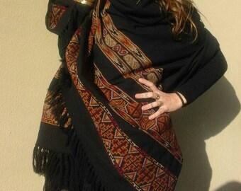 Tribal shawl 100x200