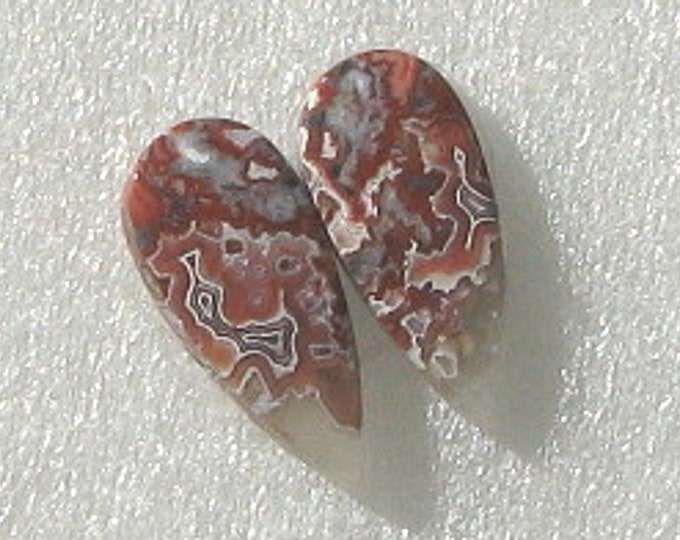 Crazy Lace Agate earring cabochons