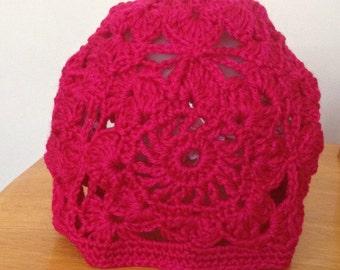 Vintage style, boho style woman's hat, crochet hat, summer hat, boho beanie hat, crochet girl beanie hat, summer boho hat, cloche hat, gift