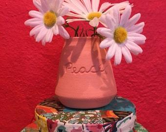 Peace Pottery Vase