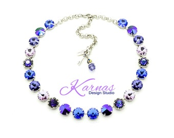ON THE PROWL 12mm Crystal Rivoli Choker Made With Swarovski Elements *Pick Your Finish *Karnas Design Studio *Free Shipping*