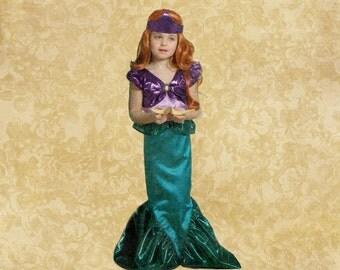 Mermaid Costume for Girls Sizes 3-8