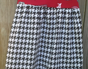 Alabama Girls Dress, Roll Tide Girls Dress, Bama Game Day Dress, Houndstooth Dress, Custom Dress Sizes 12m-12, Handmade Team Dress