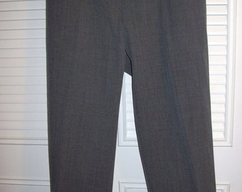 Vintage Lauren Ralph Lauren Grey Wool Pants/Slacks Beautiful Career Find Size 16