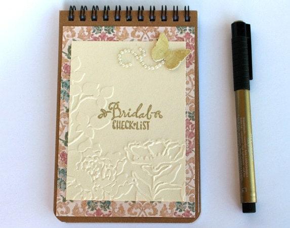 Wedding Planner Pocket Notebook Wedding Notebook Journal