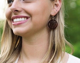 Monogrammed  Scallop Earrings