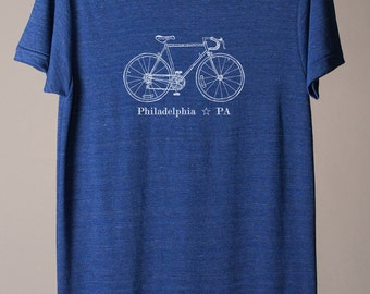 Philadelphia t-shirt, Philadelphia tshirt, Philadelphia tee, Philly bike tee, Philly t-shirt, Philly tshirt
