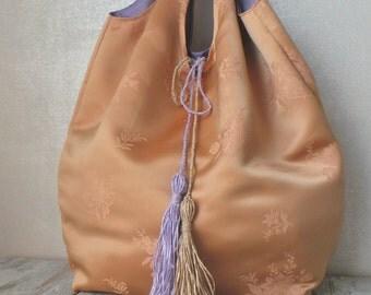 crochet raffia bag russet melange large summer crochet purse. Black Bedroom Furniture Sets. Home Design Ideas
