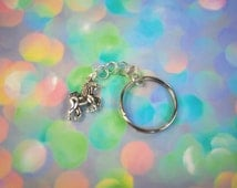 Magic Unicorn Keychain Unicorn Key Chain Pastel Goth Clothing Charm Keychain Unicorn Key Ring Pastel Grunge Charm Key Chain Vintage Loser