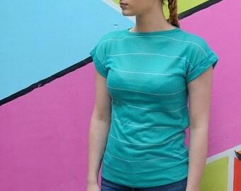 90s Preppy Style Vintage T-shirt, Retro Casual Top, Streetwear.