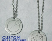 Custom Gallifreyan Necklace - Doctor Who - Personalize w/ Your Name or Phrase - Whovian Gift - Stainless Steel Pendant