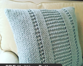 Cushion Knitting Patterns To Download : Knitting Patterns by FiftyFourTenStudio on Etsy