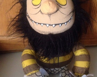 """Where the Wild Things Are - 'Moishe' 18"""" Monster Plush Stuffed Animal Figure Doll Toy, Vintage Doll Toy from 1960s Classic Kids Storybook"""