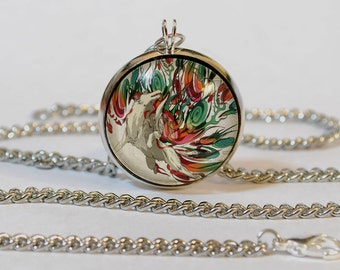 Handmade Amaterasu Okami Pendant Necklace