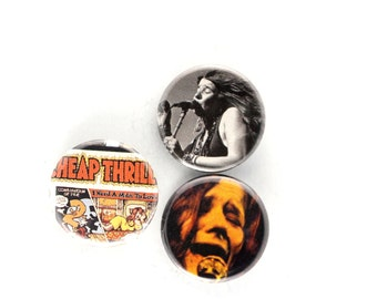 Janis Joplin Pins Cheap Thrills Buttons 60s Icon Badges