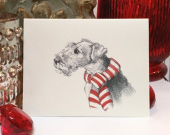 Welsh Terrier Holiday Card