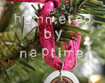 Baby's First Christmas Ornament - Hand Stamped Ornament - Custom Christmas Ornament - 2017 Penny Ornament