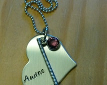 Hand Stamped Golf Necklace - Golf Heart Necklace - Golf Team Gift
