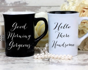 Personalized Coffee Mugs - His And Hers - Engraved Mugs - Personalized Mugs - Wedding Gift - Couples Gift - Anniversary Gift