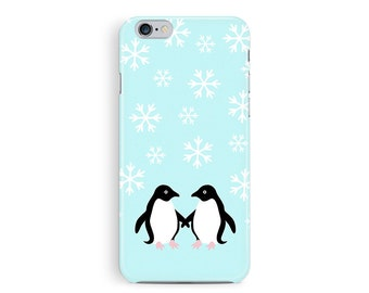 New PENGUIN iphone 6 case, cute iPhone 6 cover, xmas cell cover, winter iphone case, christmas iphone case, girly gift, xmas gift